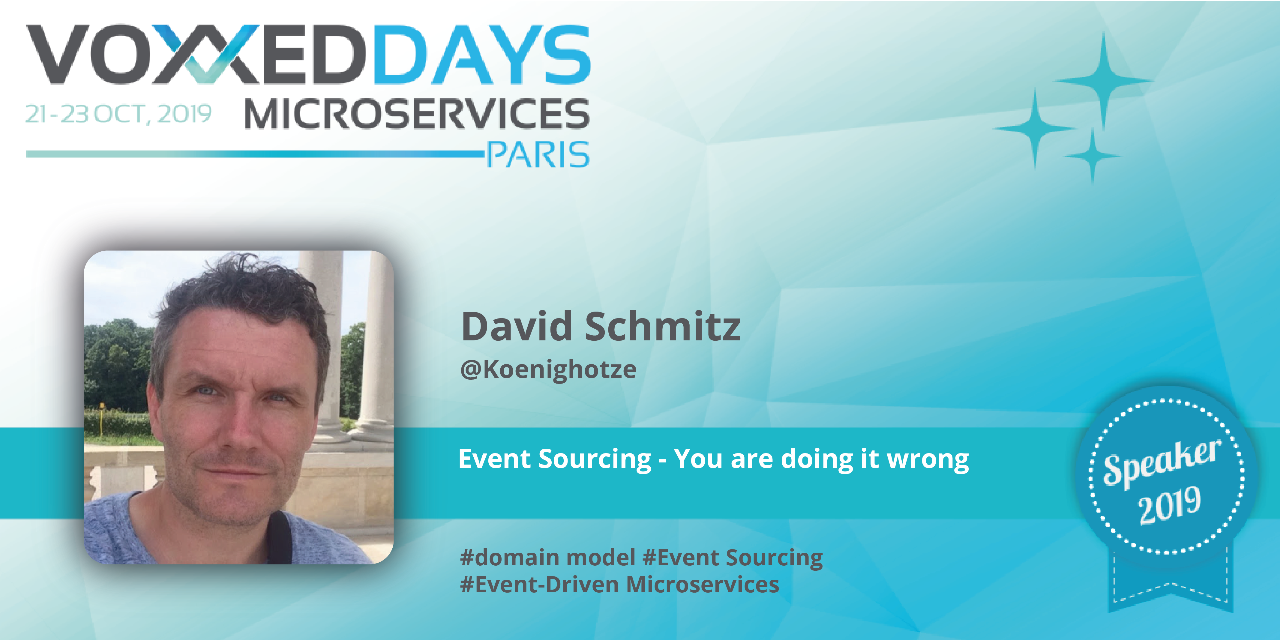 """Voxxed Days Microservices: David Schmitz on """"Event Sourcing – You"""
